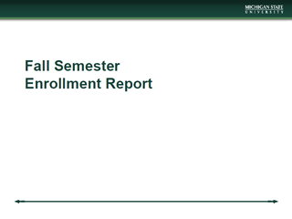 Fall Enrollment Report (PDF)