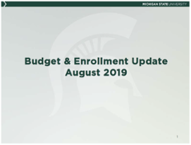 Presidents Council Budget Briefing (PDF)